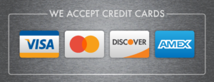 Accept payment through credit cards